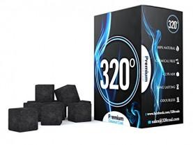 320° – Carbón natural para sisha, narguile & BBQ, 1 kg