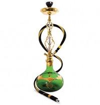 Sahara Smoke Shisha Agua peife Gypsy Green aprox. 74 cm de alto