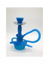 Shisha – Cachimba Pequeña de Silicona (24 cm) – Color: Azul