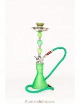 Shisha – Cachimba con base de cristal (51 cm) – Color: Verde