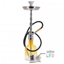 Dud Shisha Glass Amarillo y LED