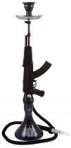 MOB, shisha AK47 de 85 cm en color negro, con forma de rifle, hookah, narguile